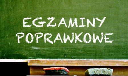 Harmonogram egzaminów poprawkowych